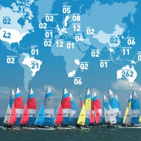 Record numbers register to compete in Hobie 16® World Championships in Jervis Bay, NSW.